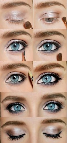 Eye makeup, blue eyes