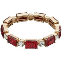 Dana Buchman Glitter Stretch Bracelet featuring polyvore women's fashion jewelry bracelets red imitation jewellery glitter jewelry dana buchman artificial jewellery imitation jewelry