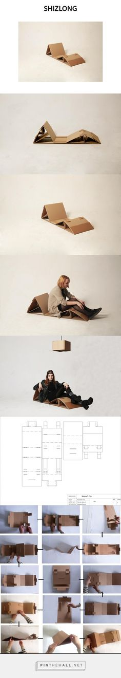Cardboard chaise lounge by Elizaveta Krazaeva Curator: Arseniy Sergeev HSE ART… Cardboard Chair, Cardboard Design, Cardboard Furniture, Cardboard Crafts, Diy Furniture Cheap, Diy Pallet Furniture, Eco Design, Living Room Lounge, Origami Folding