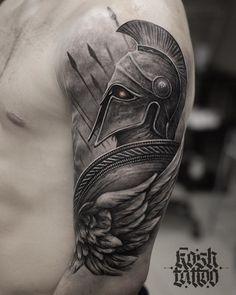 101 Amazing Spartan Tattoo Designs You Need To See! - 101 Amazing Spartan Tattoo Designs You Need To See! Warrior Tattoos, Badass Tattoos, Viking Tattoos, Norse Tattoo, Men Tattoos, Female Tattoos, Men Back Tattoos, Warrior Tattoo Sleeve, Lover Tattoos
