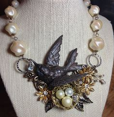 Lori Anngelo Designs - Fly Away Collection: Floral Bird Nest