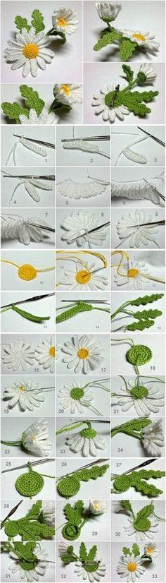 crochet-3D-daisy M