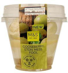 Gooseberry Eton Mess Fool, £1.50, Zingy British gooseberry compote ...
