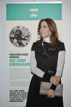 04 FEBRUARY 2014 Crown Princess Mary Yesterday:Crown Princess Mary at the opening of the 'School 200 years' jubilee in Copenhagen.