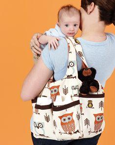 Stitch a diaper bag in cute fabric.  Find the pattern at sewitallmag.com!