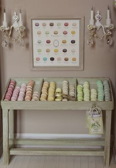 french macaroons. I want a store front JUST to display these, my favorite!!!! For cans!!