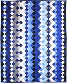 Baby's Got the Blues quilt by Tara Faughnan for Cotton Couture solids