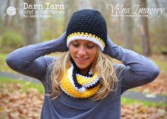 Crochet infinity scarf and beanie hat Check out my fb page, Darn Yarn: Crochet & Knit Happens, LLC & my darnyarnllc.com website is coming soon!