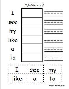 285 Best Kindergarten Sight Words Images Sight Word Activities