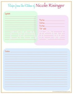 My Very Own Cookbook : Blank Cookbook for Kids - Left hand page to ...