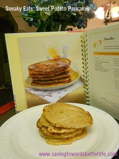 Sneaky Eats: Sweet Potato Pancakes - sneaking veggies in foods your kids will actually eat! or husband ;)