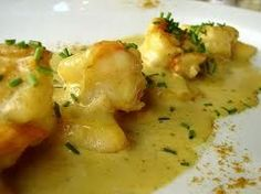 Scampi in curry saus with coconut milk - Dutch Recipes, Clean Recipes, Healthy Recipes, Scampi Curry, Seafood Recipes, Indian Food Recipes, Curry Pasta, Good Food, Yummy Food