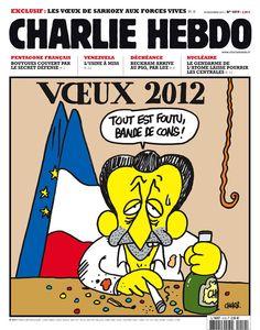 Charlie Hebdo - # 1019 - 28 Décembre 2011 - Couverture : Charb