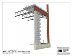 The Masonry Detailing Series is a collection of illustrative construction details & diagrams made for architects & engineers to use as a design resource. Masonry Construction, Construction Design, General Construction, Brick Design, Roof Design, Detail Architecture, Civil Engineering Design, Steel Structure Buildings, Steel Frame House