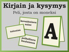 Discover recipes, home ideas, style inspiration and other ideas to try. Learning The Alphabet, Alphabet Activities, Preschool Activities, Finnish Language, Team Building Exercises, Early Childhood Education, Brain Teasers, Social Skills, Pre School