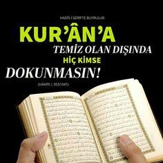 Kuran'ı Kerime temiz olan dışında hiç kimse dokunmasın!  #dokunma #kuran #temiz #namaz #ibadet #islam #müslüman #iman #dua #amin #ilmisuffa