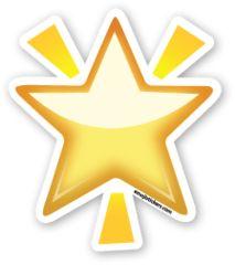 Glowing Star | Emoji Stickers