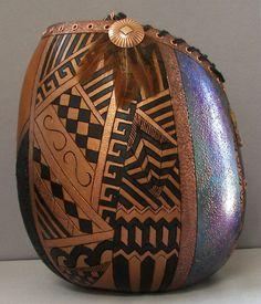 Gourd Art Gourd Jewelry Other Jewelry Decorative Gourds, Hand Painted Gourds, Native Art, Native American Art, Gourds Birdhouse, Cardboard Art, Indigenous Art, Gourd Art, Pyrography