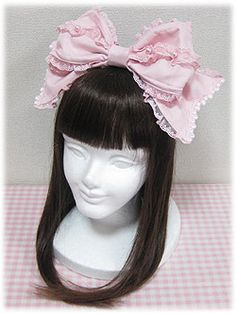 Angelic Pretty Ribbon Pearl Wired Headbow