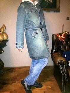 Okazja! Bardzo fajny płaszcz na zimę Jeansowy!