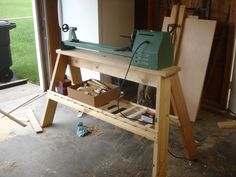 Lathe Horse. Pretty Stout. Gave this setup to Keaton Brownstead when I upgraded my lathe.