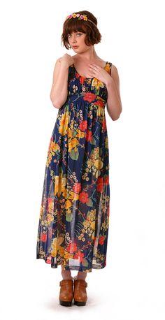 Pretty Floral Hippie Slip Dress | Damsel Vintage - 70s Vintage Fashion