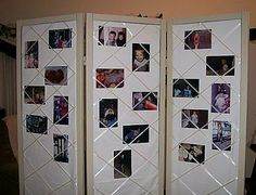 privacy screen for nursing...plaster w/baby pics!