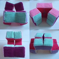 Crochet and Play is a toy you can make yourself. Toys Patterns ravelry Crochet and Play, the Puzzle Cube pattern by Sweet Apple Designs Crochet Game, Crochet Baby Toys, Love Crochet, Crochet Gifts, Crochet For Kids, Crochet Dolls, Easy Crochet, Knit Crochet, Ravelry Crochet