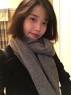 Iu Short Hair, Short Hair Styles, Long Hair, Korean Celebrities, Celebs, Korean Girl, Korean Women, Iu Twitter, Queen