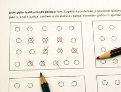 (3.lk -->) Nim-21-peli « OuLUMA – Pohjois-Suomen LUMA-toiminnan foorumi Math Problem Solving, Joko, Maths, 21st, School, Schools