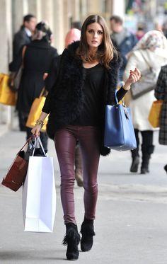 Olivia Palermo Shopping In Paris