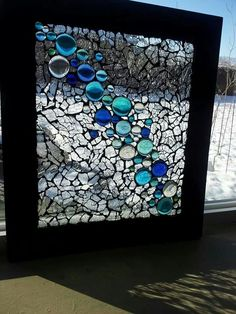 Stained Glass Mosaic Window Bubbles