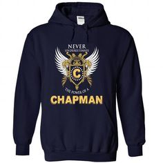 Never Underestimate the power of CHAPMAN - #summer tee #hoodie scarf. SECURE CHECKOUT => https://www.sunfrog.com/Names/Never-Underestimate-the-power-of-CHAPMAN-NavyBlue-36592899-Hoodie.html?68278