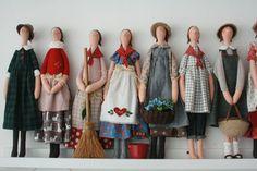 Tiny Dolls, Soft Dolls, Cute Dolls, Fabric Dolls, Paper Dolls, Tilda Toy, Fabric Animals, Bear Doll, Sewing Dolls