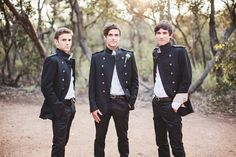 Groom's and attendants' attire of the majorly cool sort.  So fab!