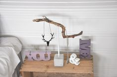 Jewelry Stand made from branches and concrete - DIY tutorial (translated from Norwegian - via Mrs. Hardy website)