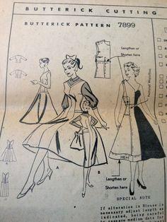 Vintage 50's Butterick 7899 Pattern // Jumper by ElkHugsVintage, $42.00
