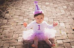 First Birthday Purple Tutu outfit Lavender by BellaBlingbyMelissa