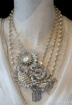 Kay Adams designer - love her necklaces...A3682 at anthillantiques.com
