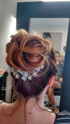 My wedding hair... Totally in love with it!!! ❤️