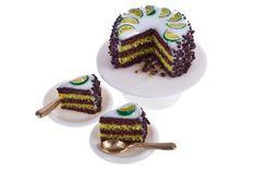 chocolate and lime sponge cake dollhouse miniature food