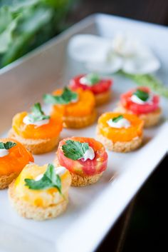 Tray passed hors d'oeuvres