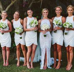 short bridesmaid dresses, white bridesmaid dresses, discount bridesmaid dresses…