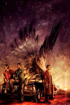 OML I died with Cas's wings kutos to the Illustrator