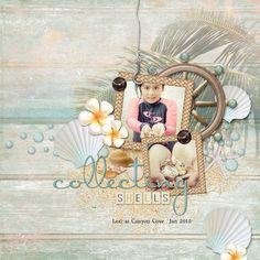 Layout by Armi Custodio using Island Life Collection Biggie, a beach-themed digital scrapbooking kit