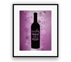 WINE LOVERS POSTER (Wine Art Decor) Wall Prints Canvas Plaques