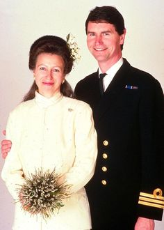 Princess Anne's second wedding. | royals | Pinterest
