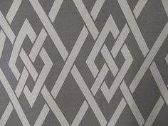 SECRET GATE Cotton Geometric fabric in Pewter