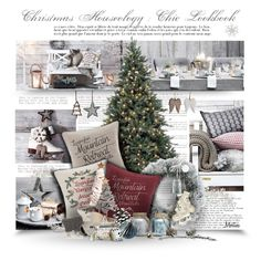 """""""Christmas Chic With Houseology"""" by thewondersoffashion ❤ liked on Polyvore featuring interior, interiors, interior design, home, home decor, interior decorating, Lexington, Christmas, interiordesign and Houseology"""