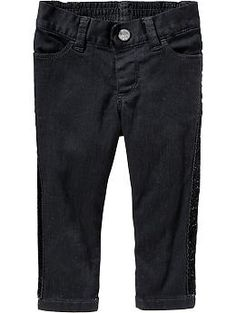 Side-Stripe Black Jeans for Baby